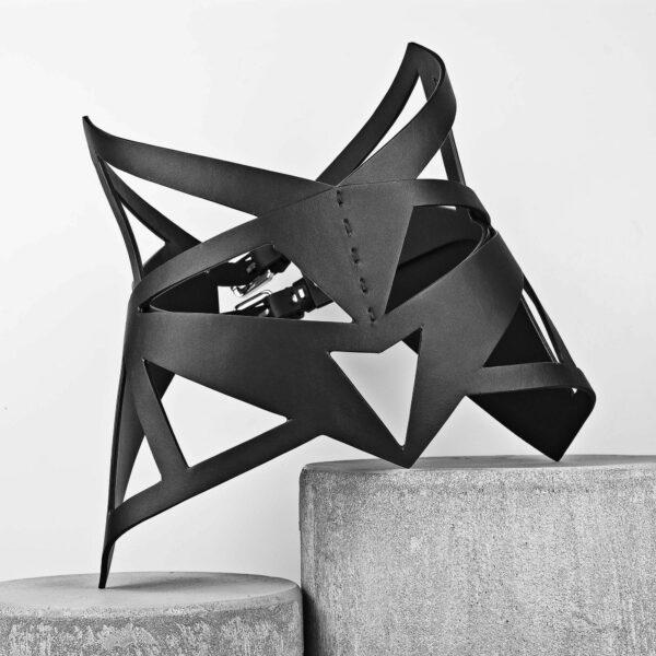 Maestoso Black Leather Feline Corset