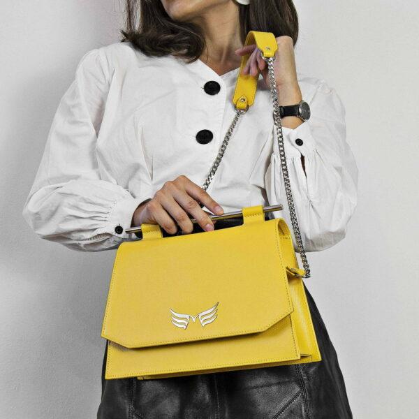 Maestoso Yellow Skylark Queen Bag