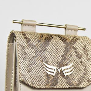 Maestoso Nude & Snake Sparrow Bag