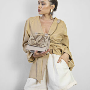 Maestoso Nude & Snake Sparrow Bag