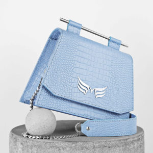 Maestoso Blue Sky Croco Mini Skylark Queen Bag