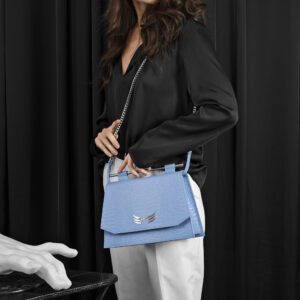Maestoso Blue Sky Croco Skylark Queen Bag