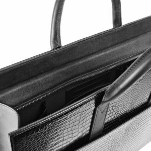 Maestoso Black Croco Briefcase