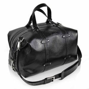 Maestoso Black Croco Duffle Bag