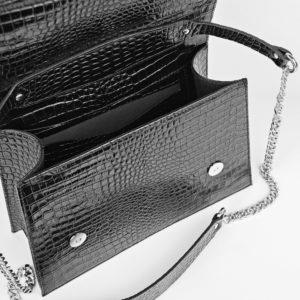 Maestoso Black Croco Skylark Queen Bag