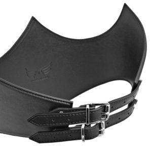 Maestoso Black Crown Leather Corset