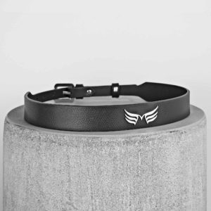 Maestoso Black  Leather Wings Belt