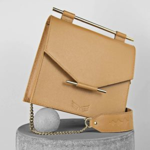 Maestoso Camel Square Bag