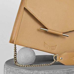 Maestoso Camel Square Bag