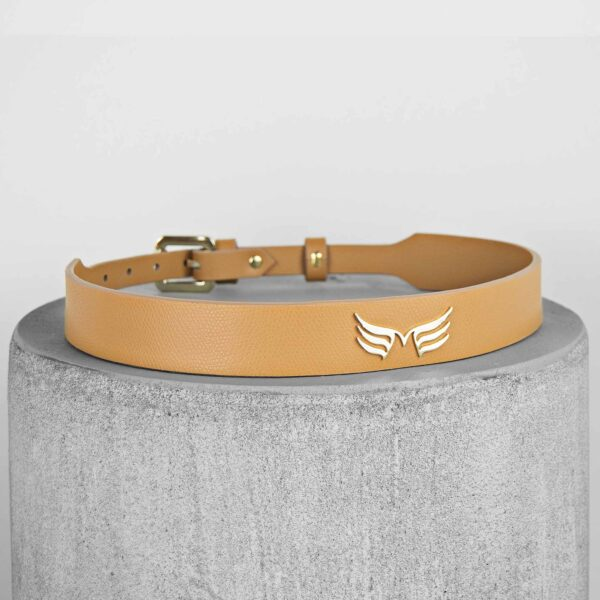 Maestoso Camel Leather Wings Belt