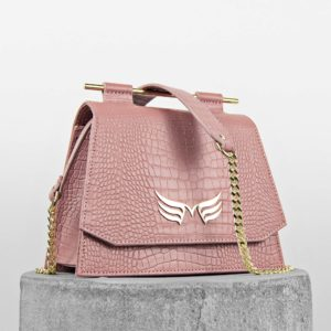 Maestoso Dusty Pink Croco Mini Skylark Queen