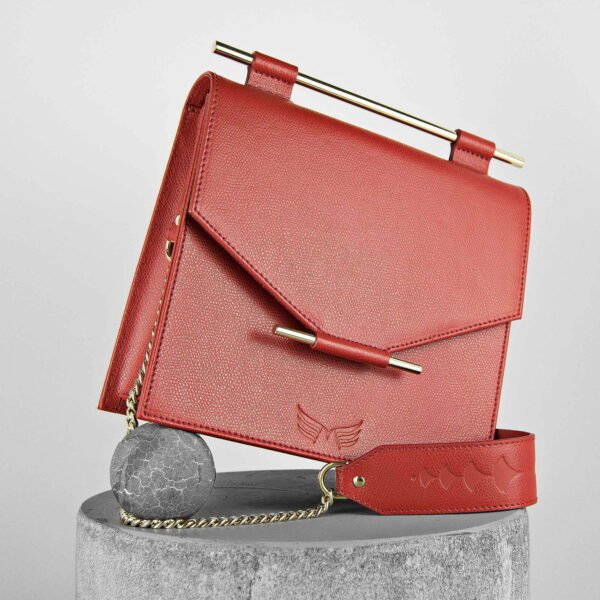 Maestoso Red Square Bag