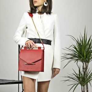 Maestoso Red Square Bag