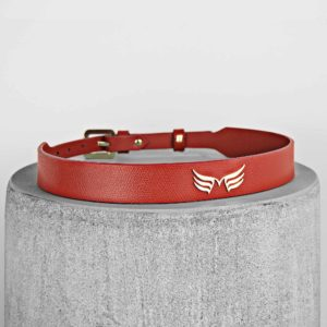 Curea rosie din piele naturala Maestoso Red Wings Belt