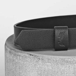 Maestoso Black Leather Wide Belt