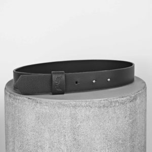 Maestoso Black Leather Wide Belt