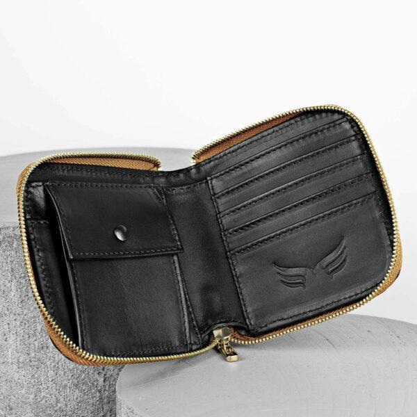 Maestoso Brown Croco Leather Wallet