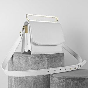Maestoso White Eames Leather Bag