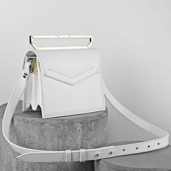 Maestoso White Eames Leather Bag
