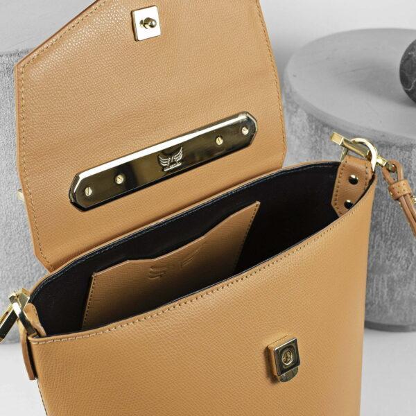 Maestoso Camel Maya Leather Bag