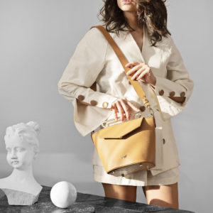 Maestoso Camel Maya Leather Bag