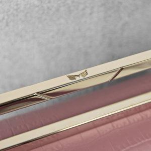 Maestoso Dusty Pink Croco Neri Leather Bag