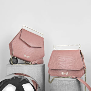 Maestoso Dusty Pink Croco Nouvel Leather Bag