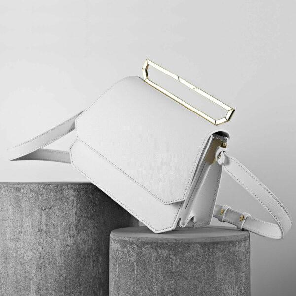 Maestoso White Nouvel Leather Bag