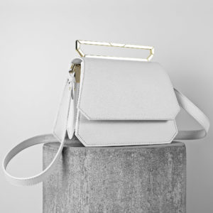 Maestoso White Nouvel Leather Bag