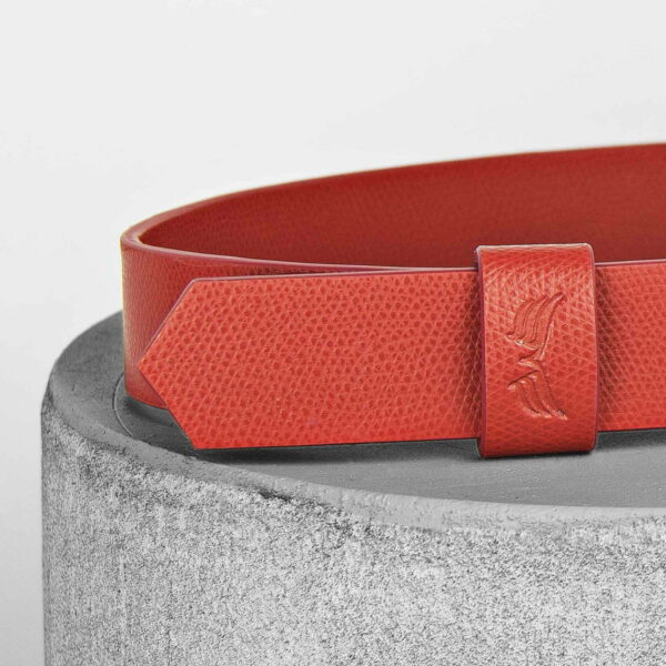 Maestoso Red Leather Wide Belt