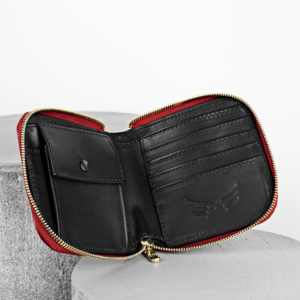 Maestoso Red Croco Leather Wallet