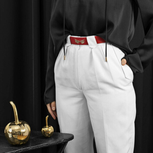 Maestoso Red Leather Wings Belt