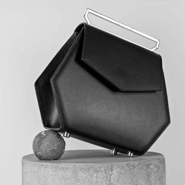 Maestoso Black Leather Renzo Bag