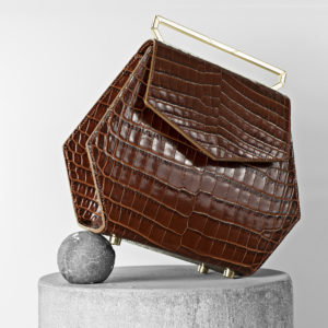 Maestoso Brown Croco Renzo Leather Bag