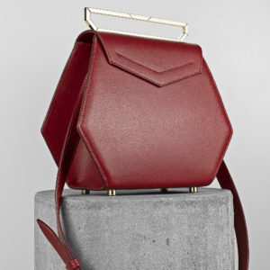 Maestoso Dark Red Renzo Leather Bag
