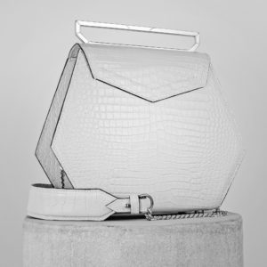 Maestoso White Croco Renzo Leather Bag