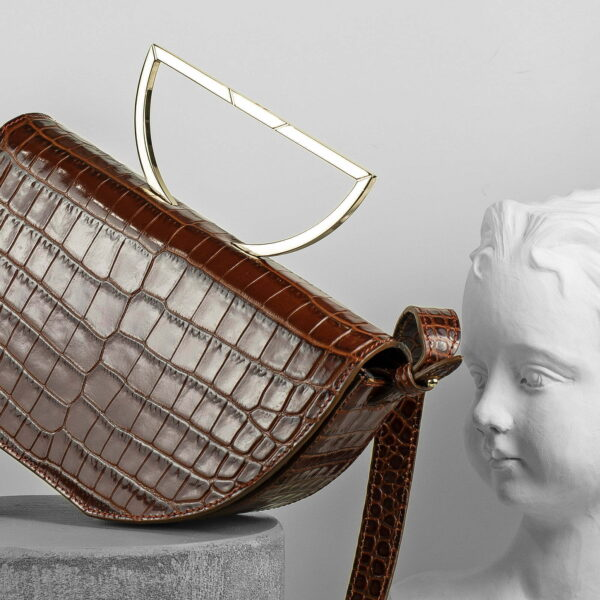 Maestoso The Muse Brown Croco Leather Bag