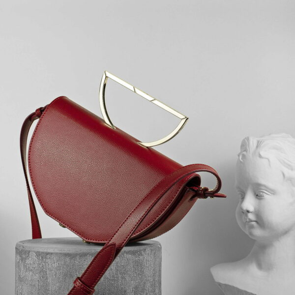 Maestoso Dark Red Leather The Muse Bag