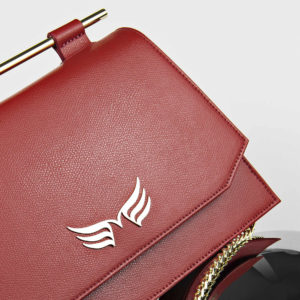Maestoso Dark Red Skylark Queen Leather Bag