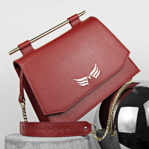 Maestoso Dark Red Skylark Queen Leather Bag