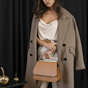 Maestoso Camel Large Nouvel Leather Bag