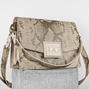 Maestoso Nude & Snake Dali Leather Bag