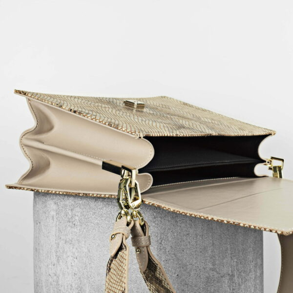 Maestoso Nude & Snake Dali Leather Bag