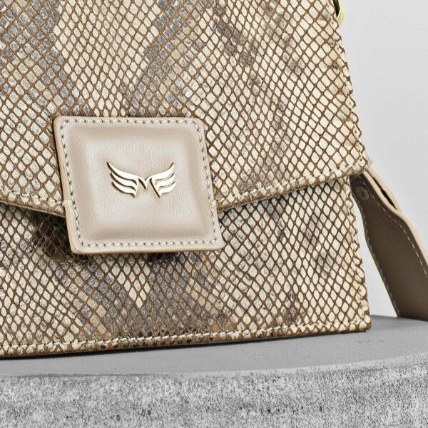 Maestoso Nude & Snake Mini Dali Leather Bag