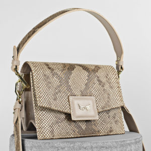 Maestoso Nude & Snake Mini Dali Leather Bag