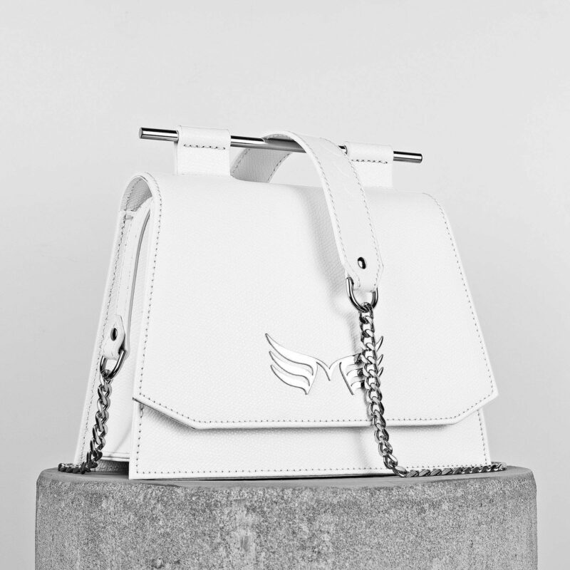 Maestoso White Mini Skylark Queen Bag