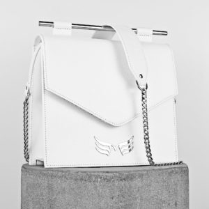 Maestoso White Square II Leather Bag