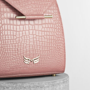 Maestoso Dusty Pink Croco Mini Backpack