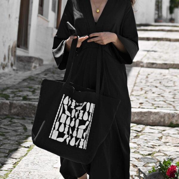 Geanta Maestoso din bumbac negru