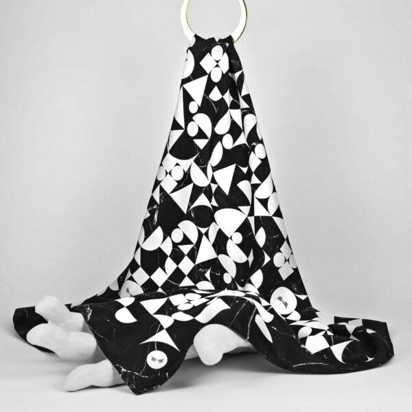 Maestoso Silk Scarf Bauhaus Black